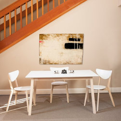 Euro Style - Euro Style Montana Dining Table - White/Natural - 90185WHT - Shop for Dining Tables from Hayneedle.com! The simplistic design of the Euro Style Montana Dining Table - White/Natural puts functionality first. Constructed of durable wood this smooth dining table features a white table top and a natural wood frame finish. Its rectangular shape provides ample room to comfortably seat up to six people. About Euro StyleEuro Style is more than a brand name. It's a complete design approach for furnishing the living room dining room kitchen and office. Most Euro Style furniture can be assembled in under fifteen minutes. Some can be assembled in under five minutes. Assembly instructions and the few tools you might need come inside the carton. Today there are hundreds of Euro Style products with new ones arriving every month. You'll discover Euro Style offers the right design at the right price.