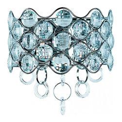 Joshua Marshal - Two Light Polished Chrome Beveled Crystal Glass Wall Light - Two Light Polished Chrome Beveled Crystal Glass Wall Light