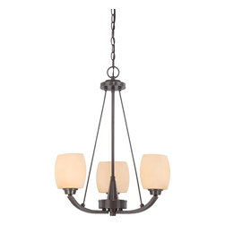 Nuvo Lighting - Nuvo Lighting 60/4205 Chandelier - Vintage Bronze - This collection's lighter than air appearance creates the illusion that Helium's glass shades are floating above the fixture's frame. Strong, yet open and airy, Helium is the right match for many contemporary home designs.