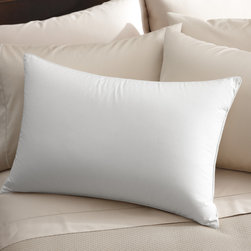 Famous Maker - Famous Maker 230 Thread Count Medium Down Alternative Pillow - Add comfort to your night sleep with the Famous Maker down alternative pillow. Featuring a 230 thread count, this pillow is made from a 50-percent cotton and 50-percent polyester cambric shell.