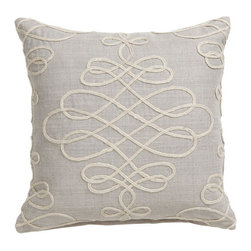 Adeline Pillow - Chic and stylish, this pillow is sure to impress. I love its subtle design. Use it with a solid linen pillow of the same color.