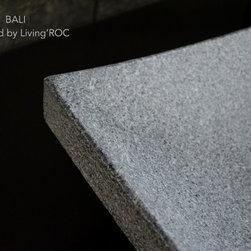 "BALI 23""x16''  GRAY GRANITE BATHROOM VESSEL SINK - Reference: BB512-US"