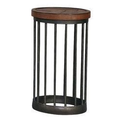 Hammary - Hammary Boardwalk Round End Table in Distressed Medium Brown - Round End Table in Distressed Medium Brown belongs to Boardwalk Collection by Hammary End Table (1)