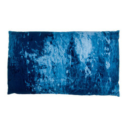 Designer Fluff - On the Bowery Pillow, 15x25 - Make a scene with this gritty, art-inspired throw pillow. The richly textured cotton saturated with brilliant indigo blue will entrance your living space, giving it the downtown vibe.