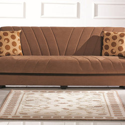 None - Tampa Sleeper Futon Sofabed - High performance fabric is specially made for easy, stress free care, while sturdy frame construction provides durability and long using. Upholstered in easy to maintain nice grade fabric, the Tampa Casual Sofa Bed is a chic addition to your living space.
