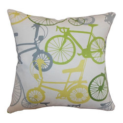 Pillow Collection - The Pillow Collection Echuca Bicycles Pillow - P18-D-21033-BLUEBROWN-C100 - Shop for Pillows from Hayneedle.com! You can almost hear the ding ding of a bicycle bell when you look at The Pillow Collection Echuca Bicycles Pillow. Made of 100% plush cotton this unique square pillow features a plush 95/5 feather/down insert for ultra softness. The fun and vibrant bicycle print features an array of bright colors for a cheery appeal. Available in various color options you can get the perfect look.About The Pillow CollectionIdentical twin brothers Adam and Kyle started The Pillow Collection with a simple objective. They wanted to create an extensive selection of beautiful and affordable throw pillows. Their father is a renowned interior designer and they developed a deep appreciation of style from him. They hand select all fabrics to find the perfect cottons linens damasks and silks in a variety of colors patterns and designs. Standard features include hidden full-length zippers and luxurious high polyester fiber or down blended inserts. At The Pillow Collection they know that a throw pillow makes a room.
