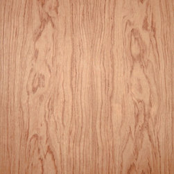 Flat Cut Bubinga - Bubinga veneer, an exotic hardwood that is reddish brown with contrasting darker colored veining which is also often figured. Available in a variety of backers and sizes.