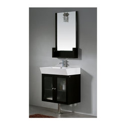 Vigo Industries - Vigo 25 in. Bathroom Vanity with Lighting System in Wenge Finish - Create a new look with this contemporary Vigo bathroom vanity. No other brand can match Vigo's style, quality and design.