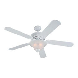 Sea Gull Lighting - Ceiling Fan - This Ceiling Fan has a White Finish and is part of the Quality Pro Deluxe Ceiling Fans Collection.