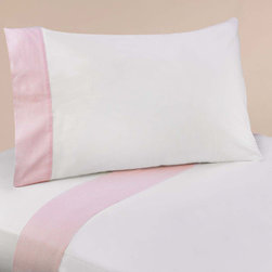Sweet Jojo Designs - Sweet JoJo Designs 200 Thread Count Pink French Toile Bedding Collection Sheet S - Creating an understated and neutral bedroom is a snap with this simple pink bedding set. A wide strip of pink gingham adorns the pillowcases and sheets to add just a little sweetness. Wrap your child in the soft cotton sheets as they drift off to sleep.