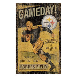 Imperial International - Pittsburgh Steelers NFL Vintage Wall Art - Dress up your Man Cave or Game Room with this great piece of vintage wall art. It's perfect for anywhere you want to show love for your favorite team.
