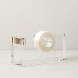 Anthropologie - Lucite Desk Collection, Tape Dispenser - Display your tape proudly with this beautiful acrylic dispenser. Office supplies that double as works of art are never to be ignored.