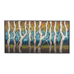 Sterling - Sterling 129-1109 Queen Lakewhite Birch At Dawn Metal Wall Decor - Sterling 129-1109 Queen Lakewhite Birch At Dawn Metal Wall Decor