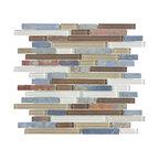 Glass & Stone Mosaic - Ceramic Tileworks - Bliss Glass & Stone Mosaic Tile - Random Autumn Tea