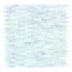 "Marbleville - MSI Arabescato Carrara Splitface Marble Mosaic  in 12"" x 12"" Sheet - Premium Grade Arabescato Carrara Splitface Mesh-Mounted Marble Mosaic is a splendid Tile to add to your decor. Its aesthetically pleasing look can add great value to the any ambience. This Mosaic Tile is constructed from durable, selected natural stone Marble material. The tile is manufactured to a high standard, each tile is hand selected to ensure quality. It is perfect for any interior/exterior projects such as kitchen backsplash, bathroom flooring, shower surround, countertop, dining room, entryway, corridor, balcony, spa, pool, fountain, etc."
