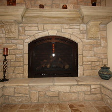 Traditional Indoor Fireplaces by Architectural Justice