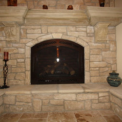 Cast Stone Fireplace - Fireplace by Architectural Justice