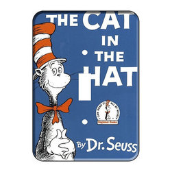 Dr. Seuss Cat in the Hat Single Toggle Switchplate Cover by Decor University - This switch cover lets you see a familiar smiling face every time you turn on the light.