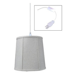 "Home Concept - 1-Light Plug-In Swag Pendant Lamp Sand Linen 10x12x12 - Plug In Swag Pendant - The perfect addition to any dark corner, or above a table that the builder didn't provide electrical wiring. You will love your swag pendant light because it can move anywhere and put the light exactly where you need it. Wondering about size?  Simply add the length and width of your space and that will give you the maximum bottom width of your pendant. If your swag is not centered in the room, you should likely use smaller measurements to define the ""space"" you are lighting up.      Why Upgrade to Home Concept Signature Pendants?       Top Quality Premium Lampshades means your room will glow with a rich, warm luster your guests will notice.  Plus we include upgrades like a premium inner lining and dual bulb clips so your new shade will last for years.      Heavy brass and steel frames mean you can feel the difference when you lift it."