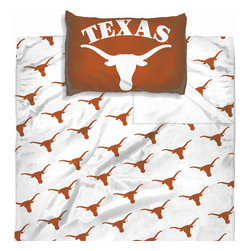 The Northwest Company - NCAA Texas Longhorns Sheet Set Logo Sheets Twin Bed - FEATURES: