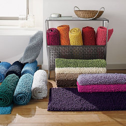 Company Cotton Chunky Bath Rug - I like the look of chunky rugs. I also like that they are comfy underneath your feet. These ones come in a variety of colors and sizes.