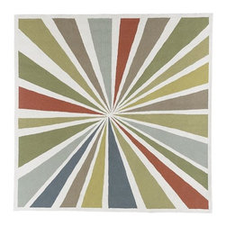 Lourdes Sánchez Bull's-Eye Rug - This rug feels like a piece of graphic art for your floor. No surprise, given it's been reinterpreted from a hand-painted watercolor by artist Lourdes Sánchez. I think this rug would make for a bold and beautiful statement in a home office.