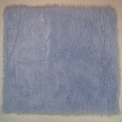 """Fun Rugs - Light Blue Flokati Collection Rug - 31"""" x 47"""" - Collection Name: Flokati; 100% Polyester Dimensions: 31"""" x 47"""""""