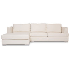 Modern Sectional Sofas Westminster Beige Leather Sectional Sofa (R)