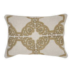 Clara Bronze Pillow - Beautifully handmade and hand woven, each pillow is made with a quality fill of 95% feather and 5% down. The Villa Home collection offers a variety of colors, textures and accents that will add a feeling of luxury to your home. The Clara pillow is 50% Cotton and 50% Linen.
