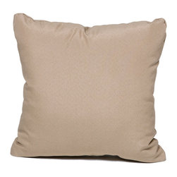 TKC - Pair of New Decorative Outdoor Throw Pillows Wheat - Square - 16x16 - Help make your outdoor space inviting with the addition of outdoor throw pillows.