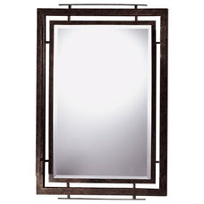 Minka Ambience Lineage Mirror in Iron Oxide