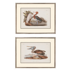 Paragon - Audubon Egrets PK/2 - Framed Art - Each product is custom made upon order so there might be small variations from the picture displayed. No two pieces are exactly alike.