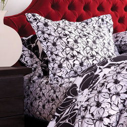 koi Midnight in the Garden White Duvet Set - Each Duvet Set is made from soft and silky 300-thread count cotton sateen in the koi prints you love.