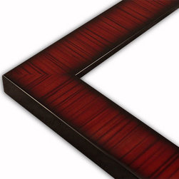 The Frame Guys - Flat Striped Mahogany, Lacquer Picture Frame-Solid Wood, 14x18 - *Flat Striped Mahogany, Lacquer Picture Frame-Solid Wood, 14x18