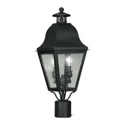 Livex Lighting Inc - Livex Amwell Outdoor Post Head Black -2552-04 - Livex products are highly detailed and meticulously finished by some of the best craftsmen in the business