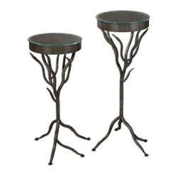 Uttermost - Uttermost Esher Plant Stands Set/2 - 24316 - Uttermost's accent furniture combines premium quality materials with unique high-style design.
