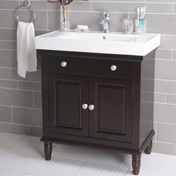 "30"" Boswell Contemporary Vanity - Single Faucet Hole - Dark Brown - A traditional vanity with a modern flair adds style and sophistication to your contemporary bathroom. Add the single-hole faucet of your choice to complete the look."