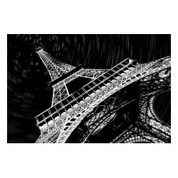 """Maxwell Dickson - Maxwell Dickson """"Eiffel Tower""""  Paris Canvas Artwork Wall Art Print - We use museum grade archival canvas and ink that is resistant to fading and scratches. All artwork is designed and manufactured at our studio in Downtown, Los Angeles and comes stretched on 1.5 inch stretcher bars. Archival quality canvas print will last over 150 years without fading. Canvas reproduction comes in different sizes. Gallery-wrapped style: the entire print is wrapped around 1.5 inch thick wooden frame. We use the highest quality pine wood available."""