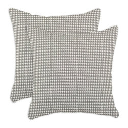 Chooty & Co. - Chooty and Co. Houndstooth Storm 17 x 17 in. Decorative Throw Pillow - Set of 2 - Shop for Pillows from Hayneedle.com! The Chooty and Co. Houndstooth Storm 17 x 17 in. Decorative Throw Pillow - Set of 2 displays an intricate pattern of grey and white that's sure to have a dramatic influence on your decor. These square pillows feature zippered closures machine-washable inserts that are incredibly cushiony and decorative covers stitched from 100% cotton.About Chooty & Co.A lifelong dream of running a textile manufacturing business came to life in 2009 for Connie Garrett of Chooty & Co. This achievement was kicked off in September of '09 with the purchase of Blanket Barons well known for their imported soft as mink baby blankets and equally alluring adult coverlets. Chooty's busy manufacturing facility located in Council Bluffs Iowa utilizes a talented team to offer the blankets in many new fashion-forward patterns and solids. They've also added hundreds of Made in the USA textile products including accent pillows table linens shower curtains duvet sets window curtains and pet beds. Chooty & Co. operates on one simple principle: What is best for our customer is also best for our company.