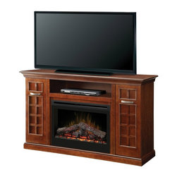 Dimplex - Dimplex Yardley Electric Fireplace Media Console Multicolor - GDS33-1304CH - Shop for Fire Places Wood Stoves and Hardware from Hayneedle.com! Enjoy your favorite TV show or a romantic night by the fire with this Dimplex Yardley Electric Fireplace Media Console. The electric fireplace is cool to the touch and operated by remote control. The top of this media console is built for a flat panel TV up to 65 inches wide.About DimplexDimplex North America Limited is the world leader in electric heating offering a wide range of residential commercial and industrial products. The company's commitment to innovation has fostered outstanding product development and design excellence. Recent innovations include the patented electric flame technology - the company made history in the fireplace industry when it developed and produced the first electric fireplace with a truly realistic wood burning flame effect in 1995. The company has since been granted 87 patents covering various areas of electric flame technology and 37 more are pending. Dimplex is a green choice because its products do not produce carbon monoxide or emissions.