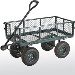 Sandusky Lee - Sandusky Lee Heavy Duty Steel Crate Wagon Multicolor - CW3418 - Shop for Carts and Wheelbarrows from Hayneedle.com! The Sandusky Heavy Duty Steel Crate Wagon is the best garden helper around. This crate-style wagon features a powder-coated steel mesh deck and tall sides that are durable and rust-resistant. The fold-down sides are removable for easy loading and unloading and the large easy-grip handle and pneumatic tires mean easy rolling.About Sandusky Cabinets and Lee MetalSandusky Cabinets and Lee Metal have been major suppliers of steel storage solutions for nearly 70 years. Their diverse product line is tailored to the specific needs of office commercial industrial and educational markets while ensuring low logistics costs and fast delivery times which means the products are handled a minimal number of times in transit.Please note this product does not ship to Pennsylvania.