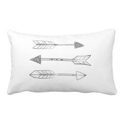 A Trinity of Arrows by VOL25 Throw Pillow - My favorite way to bring a little bit of style into my home is through throw pillows.