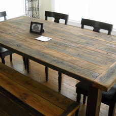 Etsy Transaction - 7' Harvest/Farm Table and bench built from reclaimed barn woo