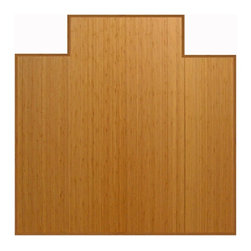 """Anji Mountain - Bamboo Tri-Fold Plush Chairmat w/Lip - 47"""" x 51"""" - Natural - Our patented Bamboo Office Chairmats have introduced eco-friendly style to what was formerly an unattractive and purely functional accessory. Naturally elegant bamboo is more durable than a plastic mat and adds a charming organic touch to any area."""
