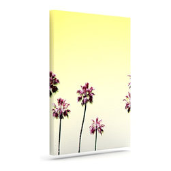 """Kess InHouse - Bree Madden """"Yellow Trees"""" Wrapped Art Canvas (30"""" x 24"""") - Bring your outdoor patio to life with this artistic outdoor canvas wrap featuring gorgeous artwork by KESS InHouse. These canvases are not only easy to hang and remove but also are the perfect addition to your patio collection. These canvases are stretched around a wooden frame and are built to withstand the elements and still look artistically fabulous. Decorating your patio and walls with these prints will add the splash of art and color that is needed to bring your patio collection together! With so many size options and artwork to choose from, there is no way to go wrong with these KESS Canvas Wraps!"""