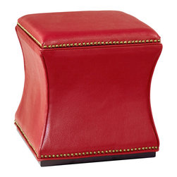 Hammary - Hammary 090-425 Hidden Treasures Storage Cube in Red - Storage cube in red belongs to Hidden Treasures collection by Hammary understated and sleek in design, this storage cube adds smart design style and functional storage to a multitude of areas in your home. Featuring sloped sides with plush upholstered sides and top, as well as a liftable top for internal storage, this-piece is a smart furniture choice for your home.
