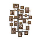 Uttermost - Natane Decorative Metal Wall Art - Elevate your treasured moments to the level of fine art. This collection of hand-hammered metal frames lets you arrange a stunning photo collage in your favorite setting.
