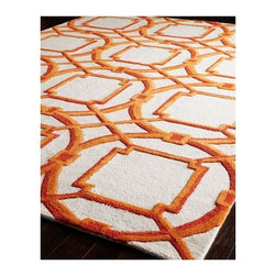 """""""Arabesque"""" Rug - This """"Arabesque"""" rug, constructed of durable wool, will bring a room to life with it's bold good looks."""