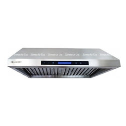 """XtremeAir - Pro-X PX12-U42 42"""" Under Cabinet Ducted Range Hood With 900 CFM  Internal Blower - XtremeAIR 30 Inch Under Cabinet Range Hood with 900 CFM Dual Blower Stainless Steel Baffle Filters Stainless Steel Oil CaptureTunnel 4 Speed Heat Touch Sensitive Electronic Control LED Lighting System w LCD Display and more"""