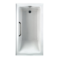 "Toto - Toto ABY782P Cotton White, Chrome Trim Clayton Tile-in Soaker 60""x32""x24-1/2"" - Toto ABY782P#01YCP3 is a Rectangular Acrylic soaking bath with tiling flange in the Clayton Collection of Toto USA Products. The deep bathing well adds to the large size of the airbath with dimensions of 60"" x 32"" x 24 1/2"" for a more luxurious bathing experience. The Toto ABY782P#01YCP3 is built from durable cast Acrylic for long lasting looks and function and has an anti-slip surface for safety with left hand drain. The Toto ABA782P01YCP3 is Cotton White and includes a solid brass grab bar in Polished Chrome."
